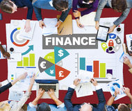 Chart Currency Loan Financial Growth Strategy Plan Concept Royalty Free Stock Photo