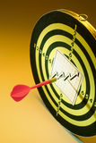 Chart and Dart Board Stock Image