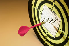 Chart and Dart Board Stock Photography