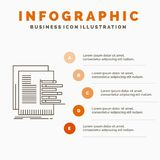 chart, data, graph, reports, valuation Infographics Template for Website and Presentation. Line Gray icon with Orange infographic royalty free illustration