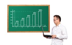 Chart on desk Royalty Free Stock Images