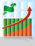 Chart development with an arrow Stock Photos