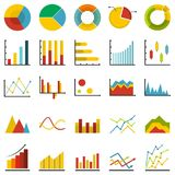 Chart diagram icon set isolated, flat style. Chart diagram icon set isolated. Flat illustration of 25 chart diagram vector icon for any web design Royalty Free Stock Photography