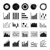Chart diagram icon set, simple style. Chart diagram icon set. Simple illustration of 25 chart diagram vector icon for any web design Stock Photography