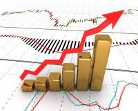 Chart, diagram. model of price movement Stock Photos