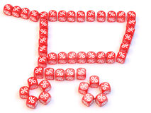 Chart dice. Group a percentage dice create a chart shape Royalty Free Stock Images