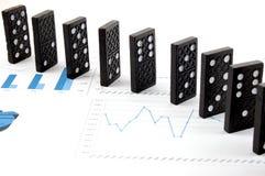 chart dominoes Στοκ Εικόνες