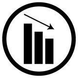 Chart down icon Stock Photo