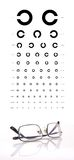 Chart and eyeglasses Royalty Free Stock Photography