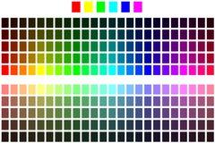 chart färg Fotografering för Bildbyråer