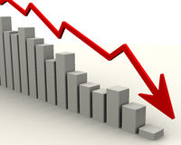 Chart of falling Stock Photography