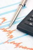 Chart finance Stock Image