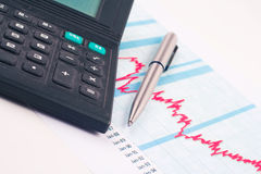 Chart finance Royalty Free Stock Photos