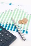 Chart finance Stock Photo