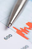Chart finance Stock Image