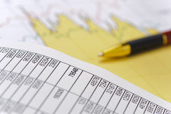 Chart of finance and stock market Stock Photo