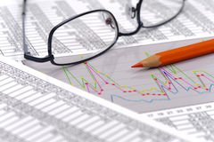 Chart of finance and stock market Royalty Free Stock Photo
