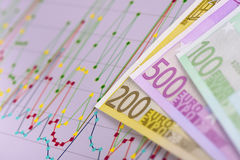 Chart of finance and stock market Stock Image