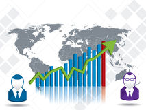 Chart financial growth and investment Royalty Free Stock Images