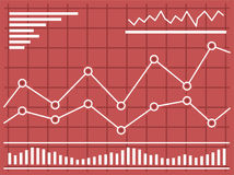 Chart with forex or stock data graphic in thin line style. Stock Photography