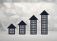 Chart in form building. Stock chart in form building, close up Stock Images