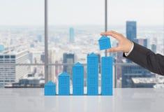Chart in form skyscraper Stock Photo