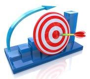 Chart goal Stock Image