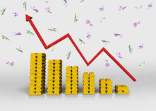 Chart of gold bullion Stock Photos