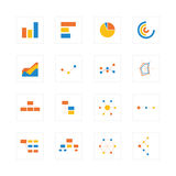 Chart and graph icons Stock Photography