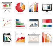Chart and graph icons Royalty Free Stock Images