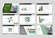 Chart and graph infographic set. Infographic brochure elements for business and finance visualization. Set of infographic templates for flyer, leaflet cover Stock Photo