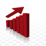 Chart graph profit increase Stock Photo