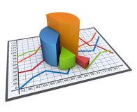 Chart and graphs Stock Photography