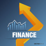 Chart and graphs. Financial and business chart and graphs Stock Image