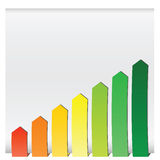 Chart graphs growing Stock Image