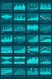 Chart Graphs Vector Mobile Background Royalty Free Stock Photography