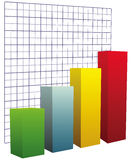 Chart with grid coordinates Royalty Free Stock Photo