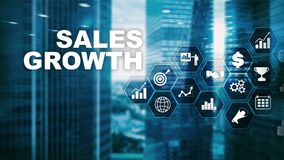 Chart growth concept. Sales increase, marketing strategy. Double exposure with business graph.  stock images