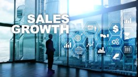 Chart growth concept. Sales increase, marketing strategy. Double exposure with business graph. Chart growth concept. Sales increase, marketing strategy. Double royalty free stock images