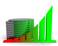 Chart and hard disc Stock Images