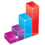 Chart icon. Four column glossy vector chart icon Stock Photo