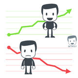 Chart. Icon man. Set#027 Royalty Free Stock Photography