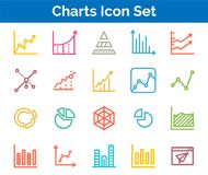Chart Icon SET Vector illustration. Vector Illustration. Easy TO use 100% vector design and vector file formats. 100% Professional Design Royalty Free Stock Photos