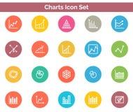 Chart Icon SET Vector illustration. Vector Illustration. Easy TO use 100% vector design and vector file formats. 100% Professional Design Stock Image