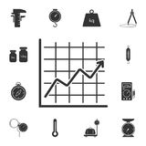 Chart icon. Simple element illustration. chart symbol design from Measuring collection set. Can be used in web and mobile. On white background Royalty Free Stock Photo