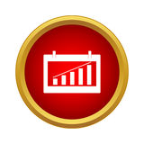 Chart icon, simple style Stock Photography