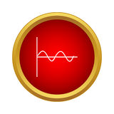 Chart icon, simple style Royalty Free Stock Photo