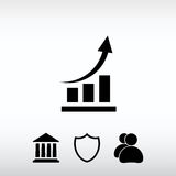 Chart icon, vector illustration. Flat design style Stock Image