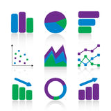 Chart icons Stock Photos