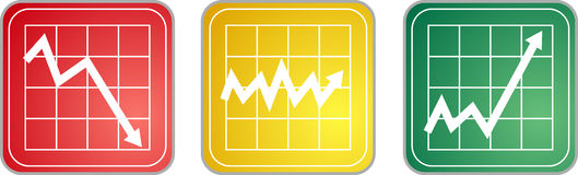 Chart Icons Stock Photography
